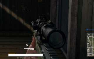 Снайперская винтовка AWM (L115) в Playerunknown's Battlegrounds